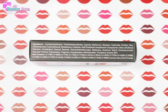 Ingredients Matte Lipstick ODESSA Cosmetic