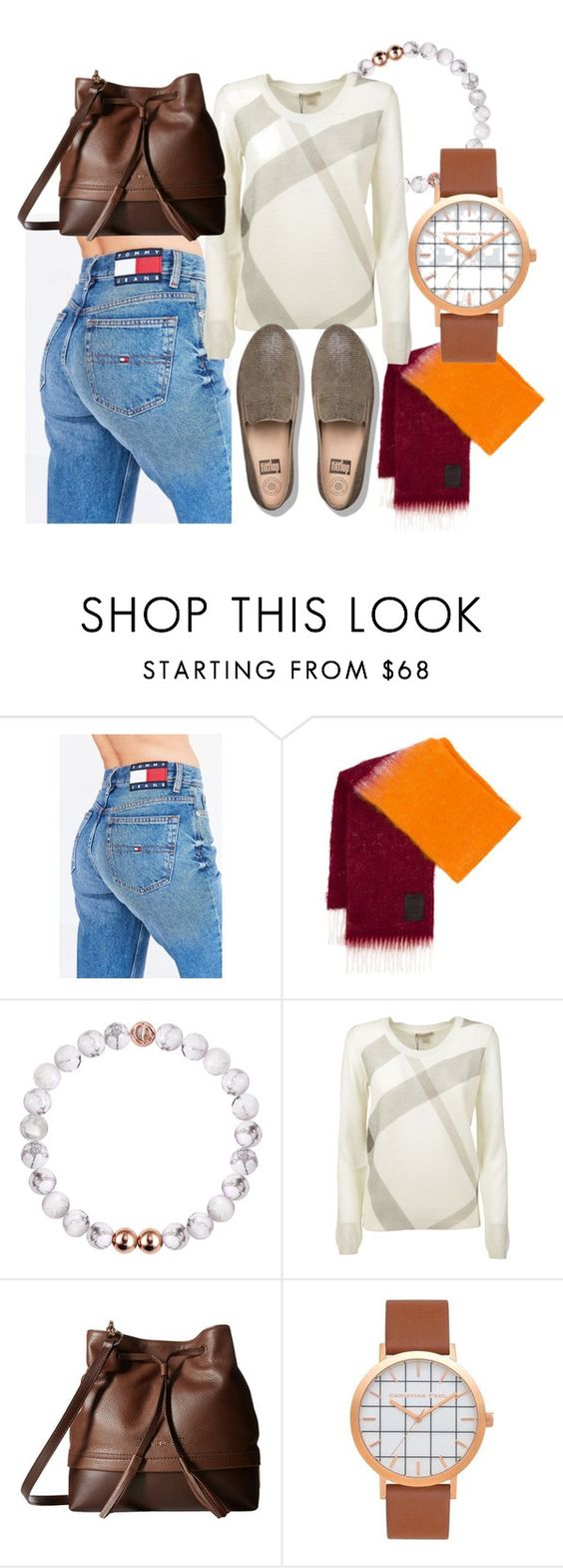 """""""#Time Flies"""" by beograd-love ❤ liked on Polyvore featuring Tommy Hilfiger, Loewe, Burberry, Lodis and FitFlop"""