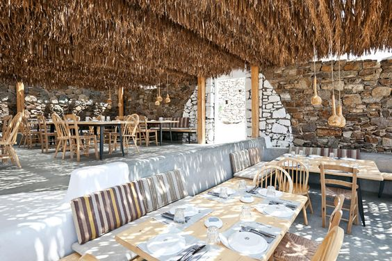 Restaurant Alemagou. Mykonos. K-Studio