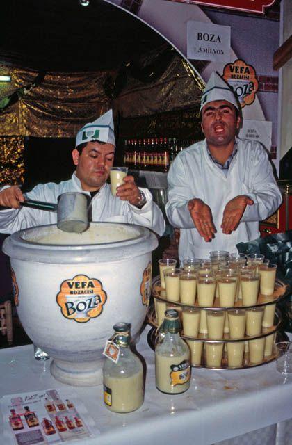 Boza, Bebida de trigo fermentado, Turquía