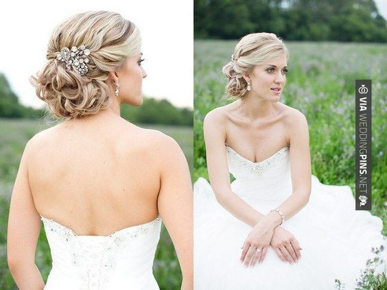 Cool - Wedding Hair Updos Wedding Updos Bridal Hairstyles. Christelle's multi-tone golden locks have been twisted into an elegant bridal updo and finished off with an ornate, vintage-style silver hairpin which has been affixed to one side. Styled by Odette Will and photographed by Laura Jane Photography.   on Confetti Daydreams Wedding Blog. Click to see more! Like us on | CHECK OUT THESE OTHER AWESOME PHOTOS OF TASTY Wedding Hair Updos OVER AT WEDDINGPINS.NET | #weddinghai