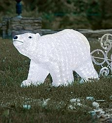 Lighted Polar Bear in Holiday 2012 from Wind & Weather on shop.CatalogSpree.com, my personal digital mall.