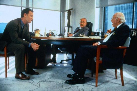 Joe Fox (Tom Hanks), Nelson Fox (Dabney Coleman), Schuyler Fox (John Randolph) ~ You've Got Mail (1998) ~ Movie Photos #amusementphile