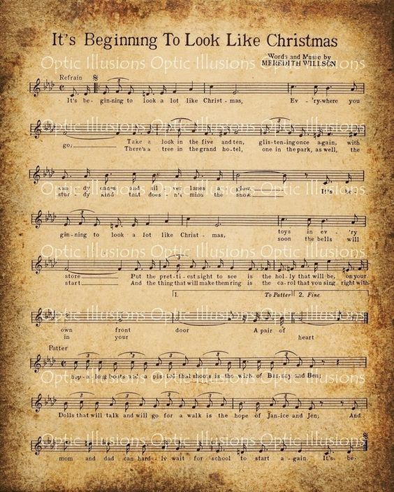 Free Print Christmas Sheet Music | ... to the designs, the free printable sheets are for personal use only
