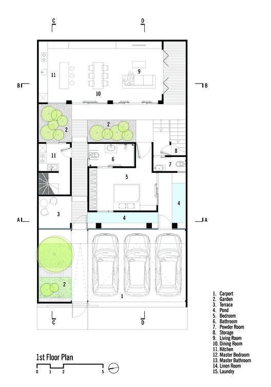 Rumah Beton House Parisauli Arsitek Studio House Projects Architecture Narrow House Plans Architectural Floor Plans
