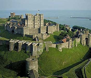 Dover Castle ~ one of many Norman towers built by William The Conqueror after 1066, for defence not princesses!