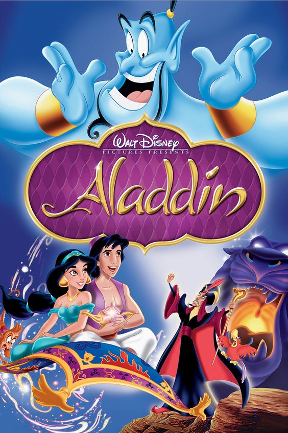 Aladdin (1992). Fabulous movie with the great Robin Williams who was the voice of the genie.