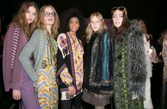 Backstage at Anna Sui's Fall Runway show in New York. Pat McGrath designs Anna's runway makeup looks each season.