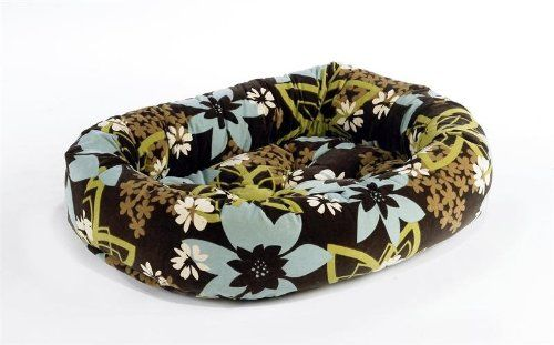 Diamond Microvelvet Donut Pet Bed - St. Tropez (Large: 42 x 32 x 9 in.) -- Read more at the image link.