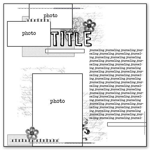 Cocoa Daisy Sketch: I Sketch, Scrapbooking Sketches, Scrapbook Card, Scrapbook Sketches, Scrapbook Photos, Photo Sketches, Scrap Sketch, 1 3 Photos, 3 4 Photos
