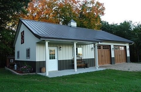 Colors Light And Dark Gray Shed House Plans Barn House Design Pole Barn Homes
