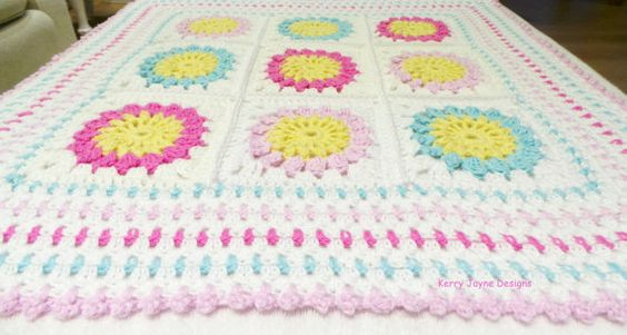 CROCHET PATTERN Starry sun blanket pattern by KerryJayneDesigns