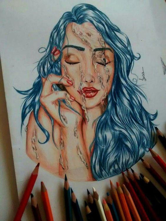 Pintando água...