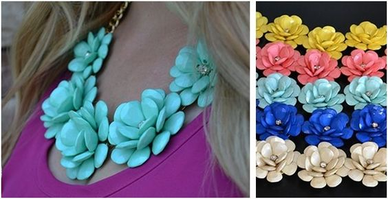 J Crew Inspired Flower Necklace only $7.99! (Reg. $39.99) 5 colors! #internetdeals #jcrew