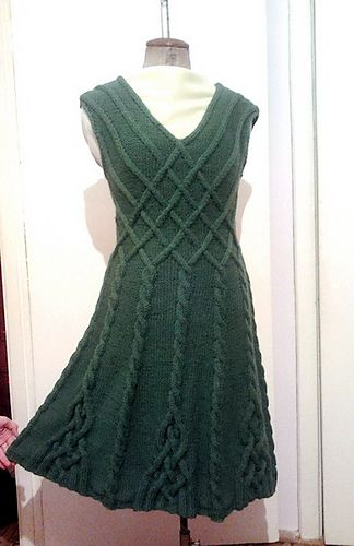 Knitting Pattern Cable Dress : Ravelry: Amberjatkos Dress based on Caireen shawl warm ...