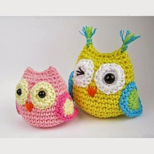 Meu Mundo Craft: Mini Coruja em crochê