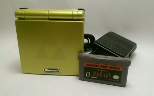 Nintendo Game Boy Advance SP Legend of Zelda Gold Handheld System w/NES ZELDA 1  $129.99End Date: Monday Oct-3-2016 20:11:08 PDTBuy It Now for only: $129.99Buy It Now | Add to watch list