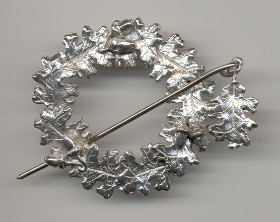 Scottish Oakleaf Brooch in Sterling silver. Original design by Suzan Postgate Available by request as a custom order.