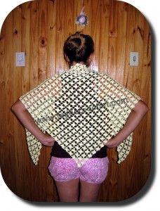 Chal tejido a crochet