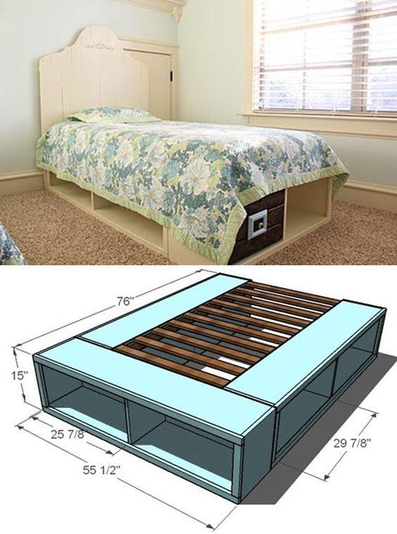 Check out 14 DIY Platform Beds at http://diyready.com/14-diy-platform-beds/