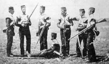 68th Durham Light Infantry in the Crimea in 1855 carrying 1853 Enfield Muskets.