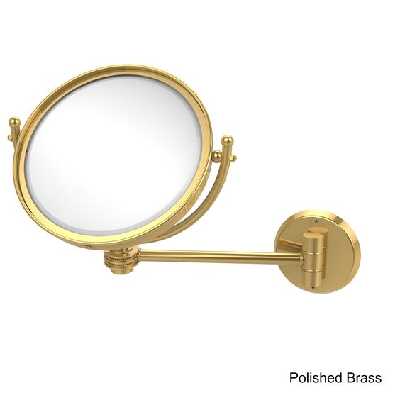 Allied 8-inch Wall-mounted Makeup Mirror with 2X Magnification