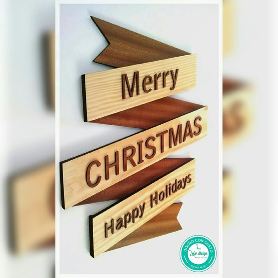 Letrero Merry Christmas