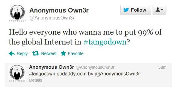 #Anonymous Puts Millions of Websites Down, #GoDaddy #Hack