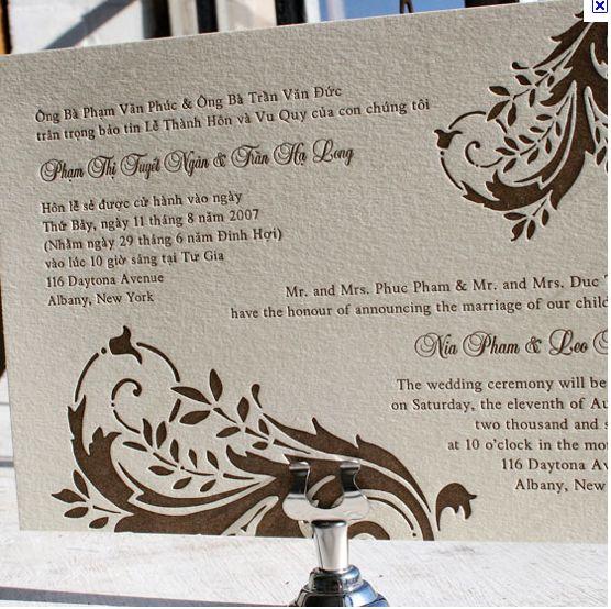 Vietnamese Wedding Altar: Another Bilingual Wedding Invitation Layout