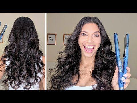 How To Curl Your Hair With A Flat Iron Easy Curls With Hair Extensions Giveaway Rizar El Cabello Con Plancha Planchas Para Cabello Como Rizar El Cabello