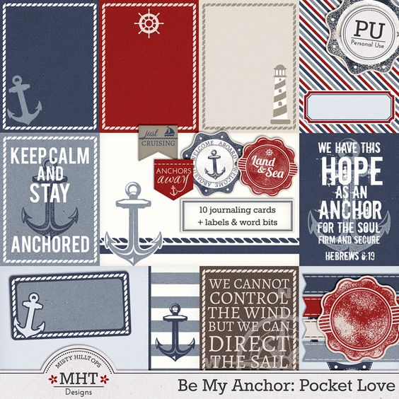 project life, journaling card, digital scrapbooking kit, freebie, mistyhilltops.com, nautical, ocean, be my anchor, hobby, label, tag, story:
