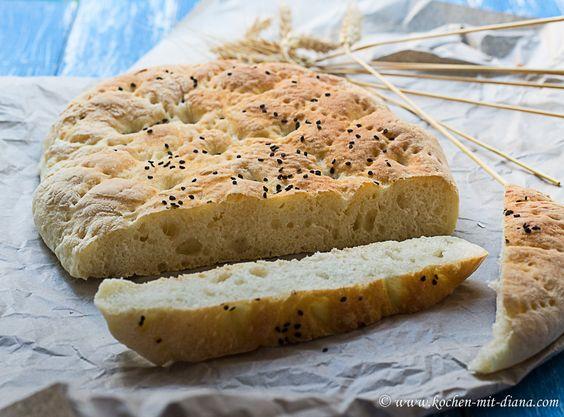 Kochen mit Diana/ Cooking with Diana: Türkisches Fladenbrot/ Turkish flatbread