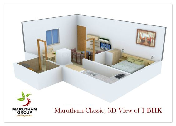 1 BHK Marutham Classic, Priya Nagar Phase, Urapakkam, Chennai.  A beautiful Residential Enclave that offers opulent quality lifestyle to the residents.
