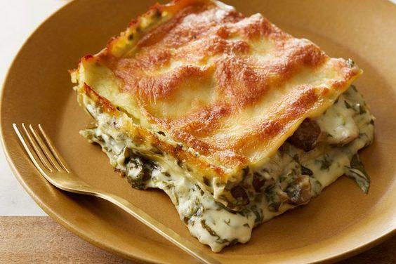 Vegetarian Creamy Spinach and Mushroom Lasagna | By Giada ...