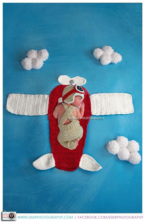 Aviator crochet patterns, pilot crochet patterns, aviation rug, jumpsuit, aviator hat, pilot jumpsuit, newborn photo prop, pilot photo prop