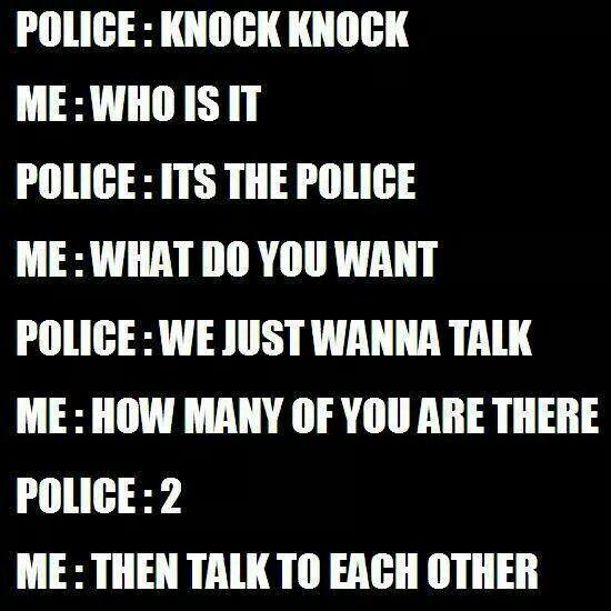 Knock knock joke - Police humor. Cop jokes