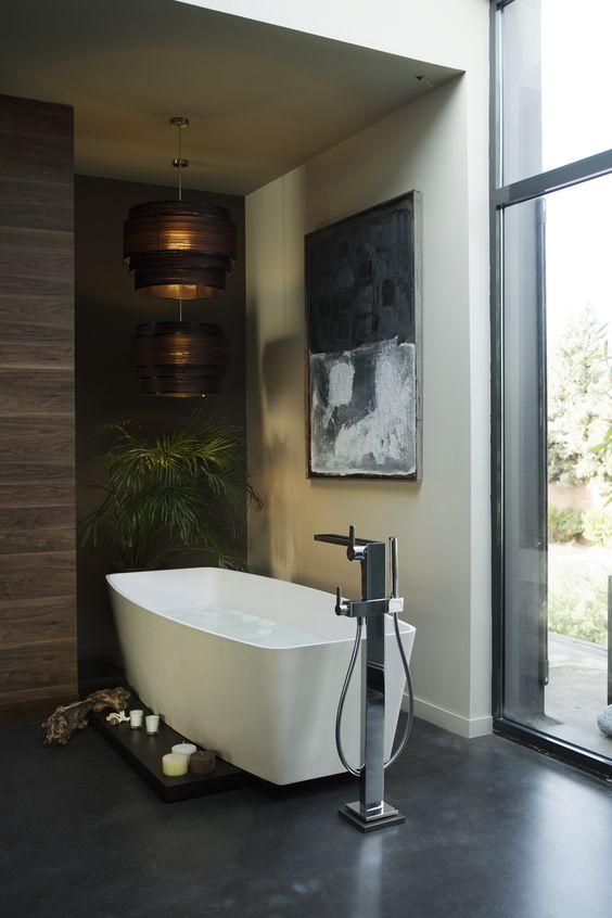 1000+ images about bad on pinterest   concrete bathroom, bathroom ... - Wohnung Mit Minimalistischem Weisem Interieur Design New York