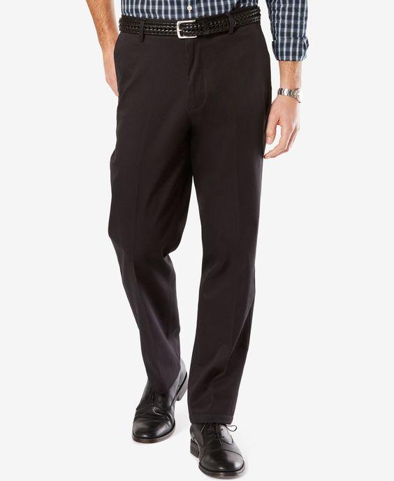 Dockers Men's Big & Tall Signature Classic-Fit Khaki Flat-Front Stretch Pants