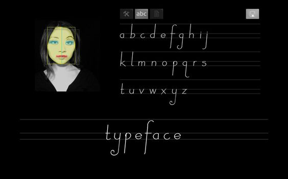 TYPEFACE is a software that translates facial dimensions into generative type design. AWESOME!!