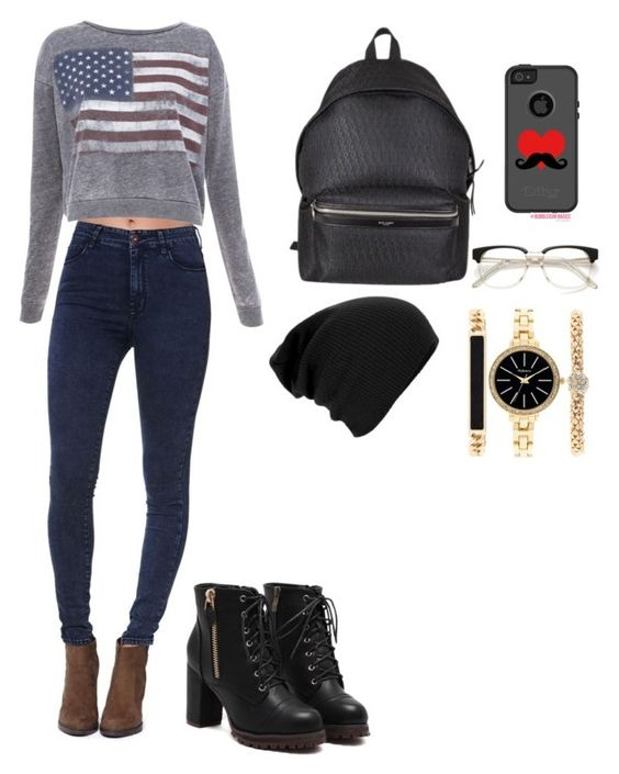 """""""Sem título #95"""" by gabyfranco ❤ liked on Polyvore featuring Bullhead Denim Co., Pull&Bear, Yves Saint Laurent and Style & Co."""