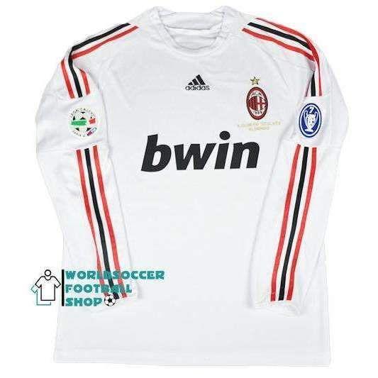 A.C. Milan Football club adidas Away Long Sleeve Rossoneri 2008-09 ...