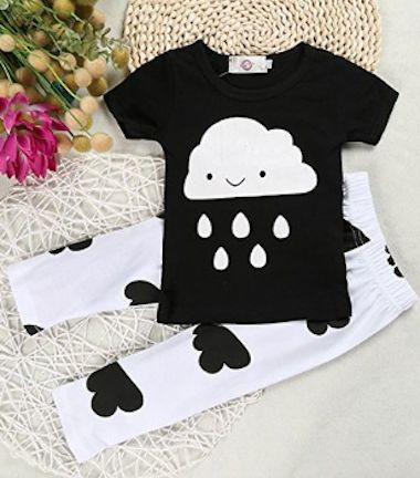 adroable baby rain cloud outfit