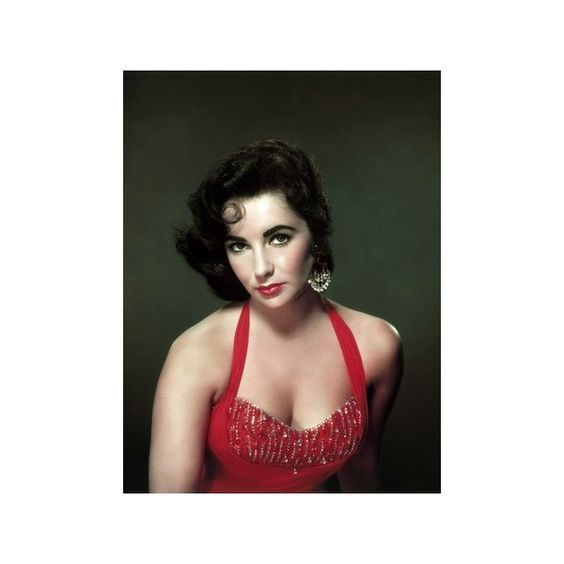 Elizabeth Taylor 1953 Photo (26 AUD) ❤ liked on Polyvore featuring home, home decor, wall art, photo wall art and photo poster