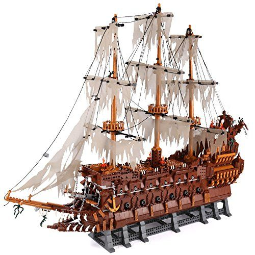 3652Pcs The Flying Dutchman Pirates of the Caribbean Building Blocks Bricks MOC