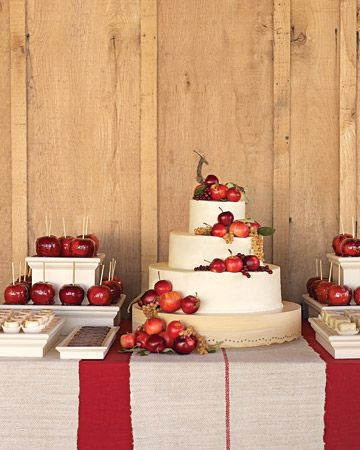 Decorated with apples - a fun idea for an apple spice cake.