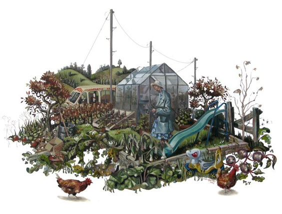 #Allotment by #LiamOFarrell ‏.. #Illustration #AllotmentChallenge #Gardening ..