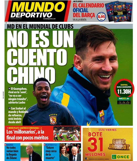 "Mundo Deportivo on Twitter: ""No es un cuento chino   #portada #deportes  https://t.co/H6YjKvvO3o https://t.co/OvcT5WX3Dp"""