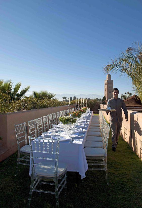 Wedding set up at El Fenn Marrakech  Photo credit: Liesbeth van der Wal