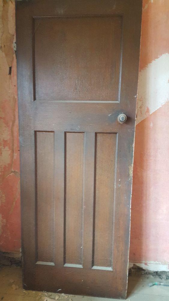 Edwardian Victorian Original 1920s 1930s Door With Door Lock And Keep 30 034 78 034 1930s Doors Doors Door Locks
