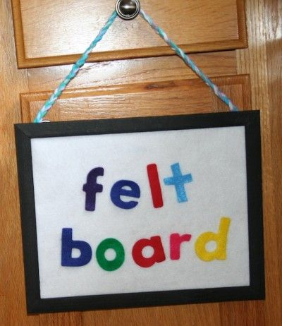Use a picture frame to make a felt board